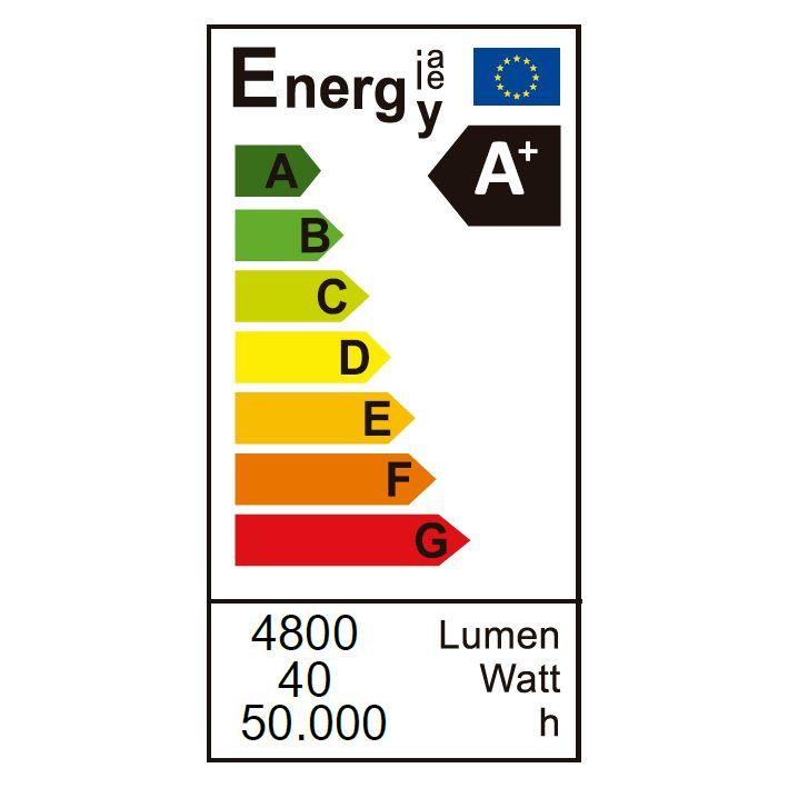 etiqueta energetica fit panel 6060 40w