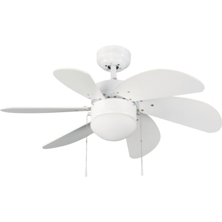 ventilador con luz modelo tabit color blanco