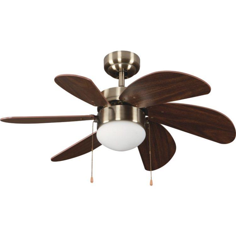 ventilador con luz modelo tabit color marron