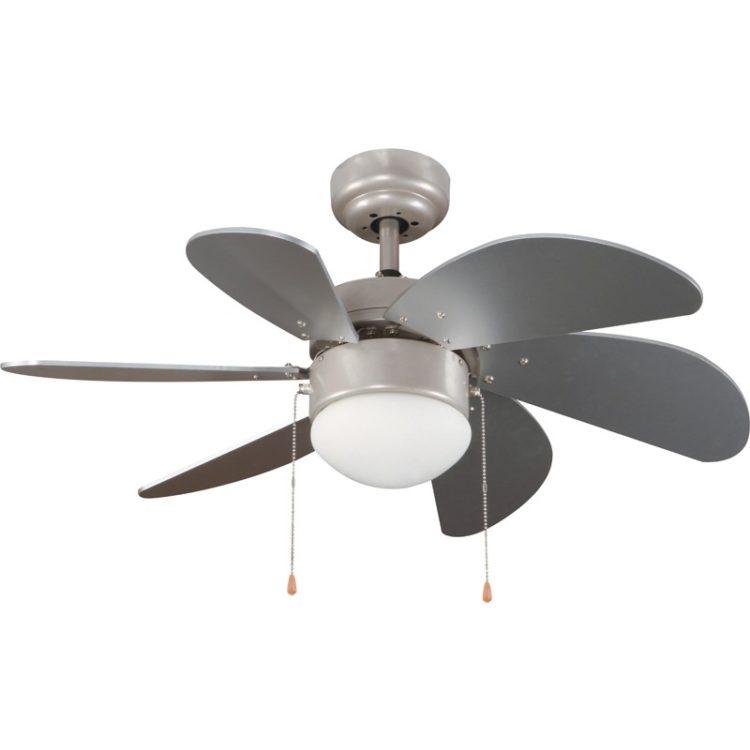 ventilador con luz modelo tabit color plata