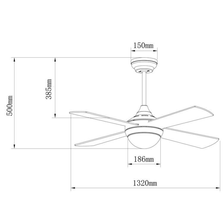 medidas de ventilador tempo con bajo consumo y silencioso
