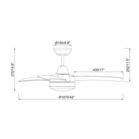 medidas del ventilador formentera