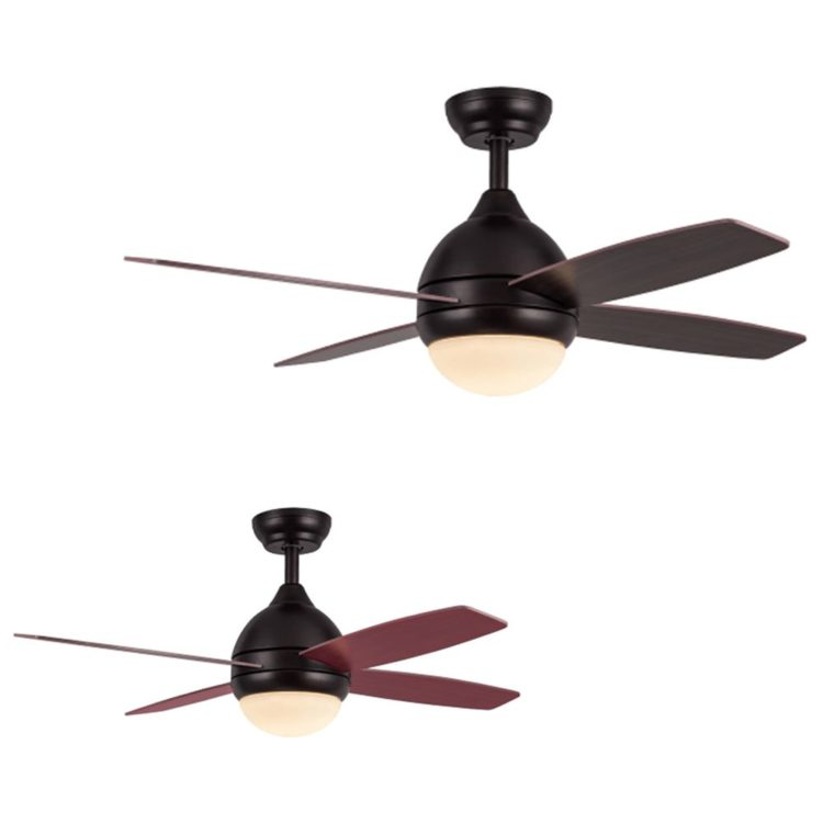 ventilador techo led modelo kinder color marron aspas reversibles