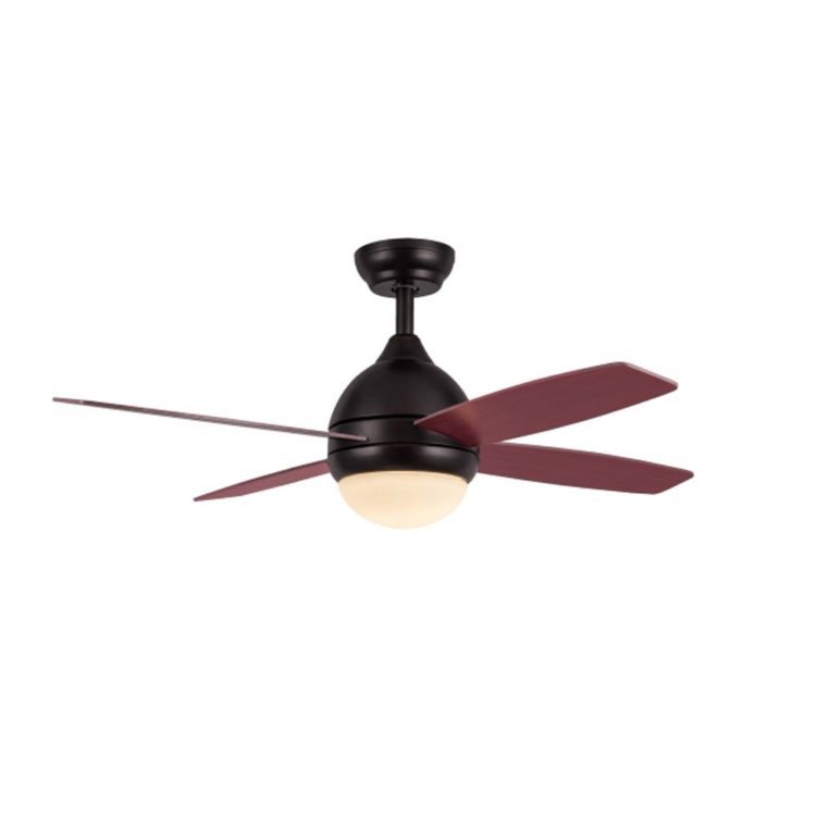 ventilador kinder marron con aspas color cerezo