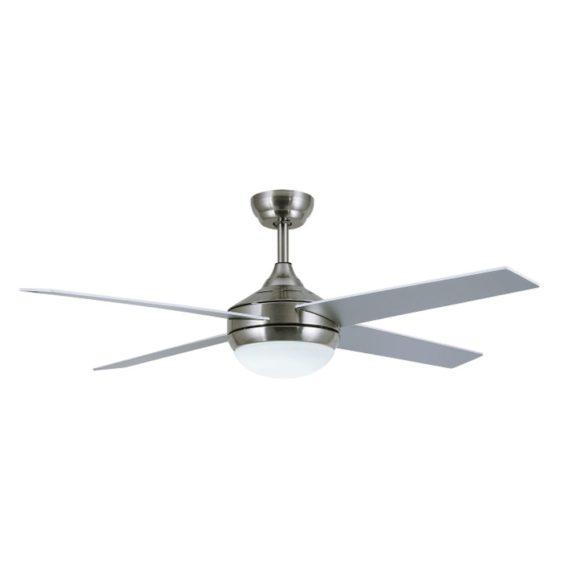 ventilador tenerife color plata con 4 aspas
