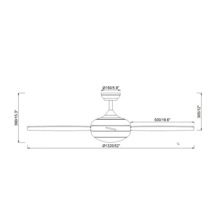 medidas de ventilador modelo tenerife