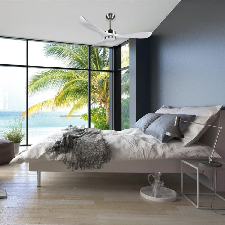 ejemplo de ventilador augusta en dormitorio