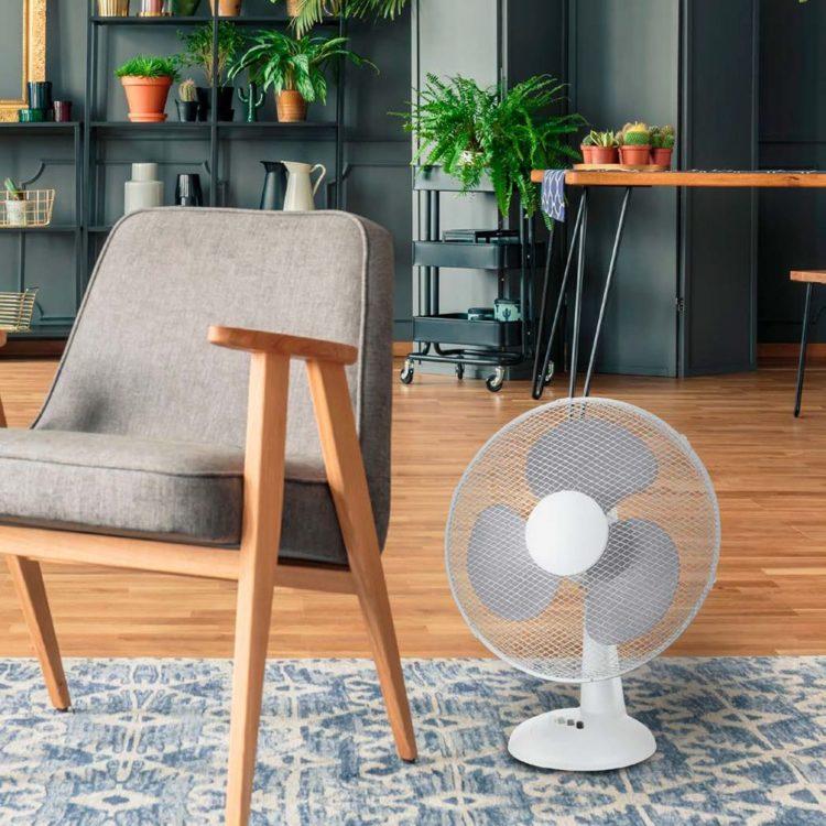 ventilador modelo viento para mesa o suelo