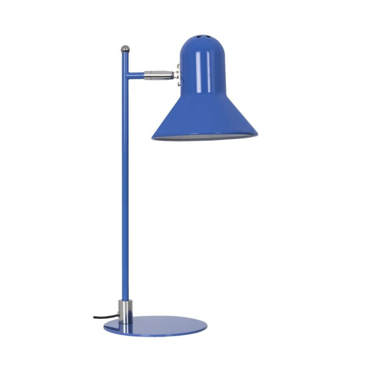 flexo azul metalico con bombilla