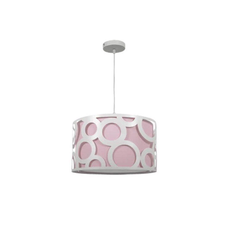 lampara rosa juvenil y blanca