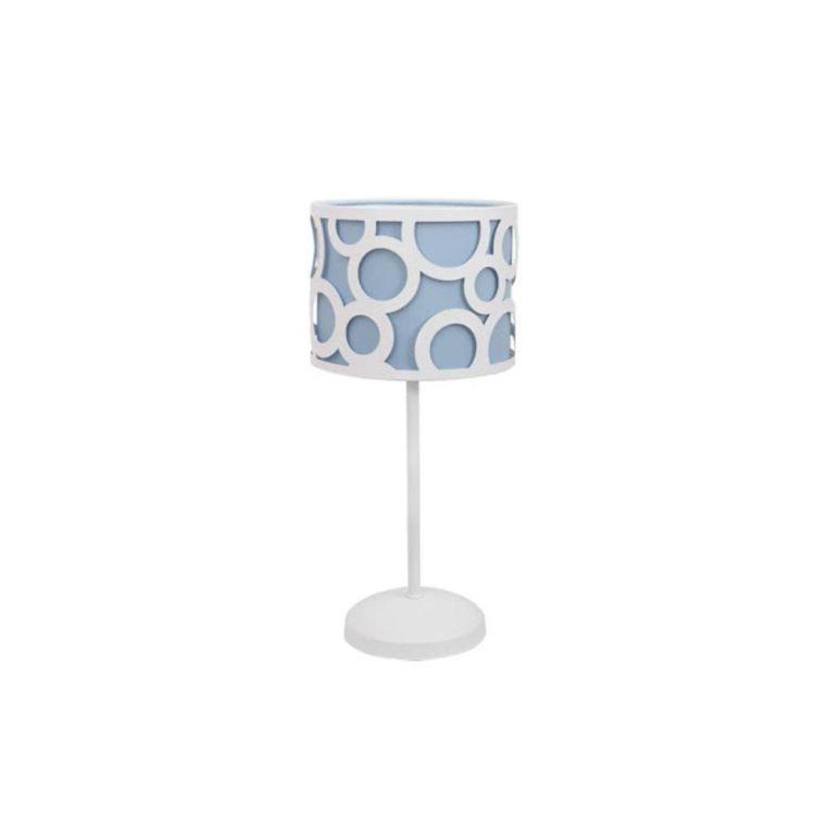 lampara para mesita de noche azul celeste