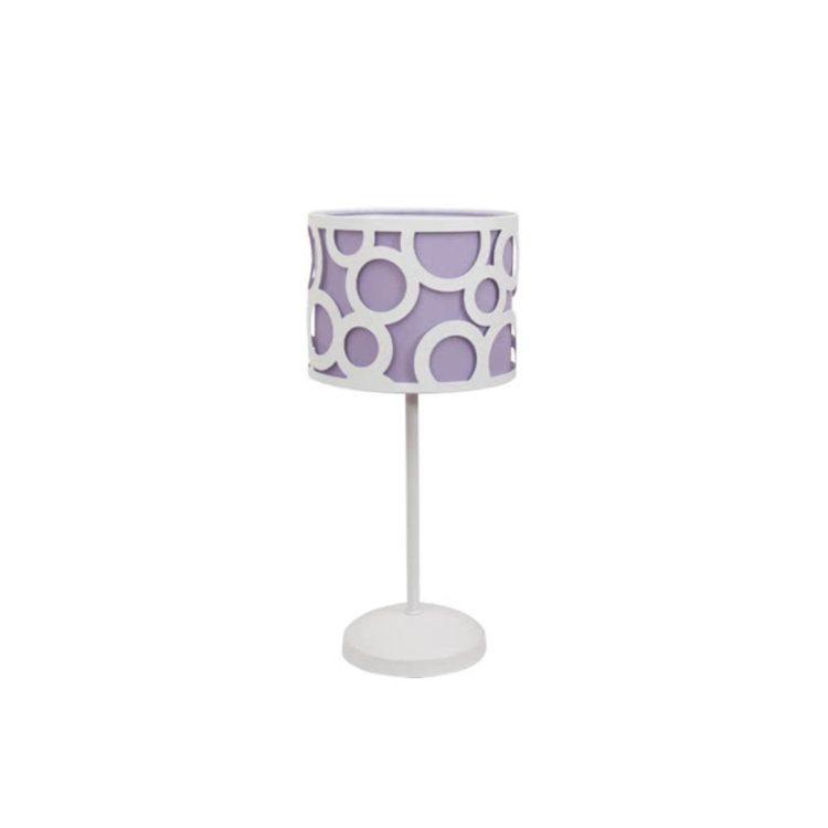 lampara juvenil lila y blanco