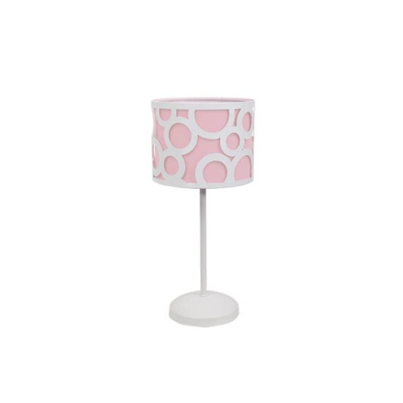 lampara de mesa rosa