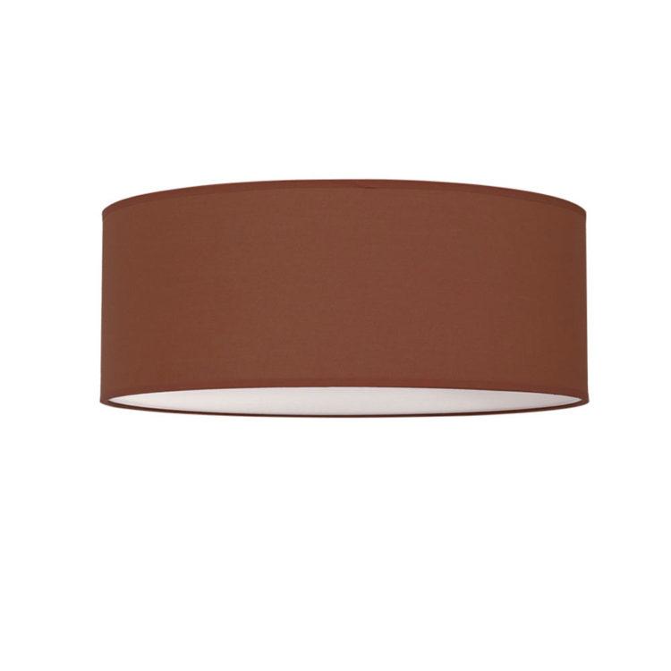 plafon marron chocolate en tela