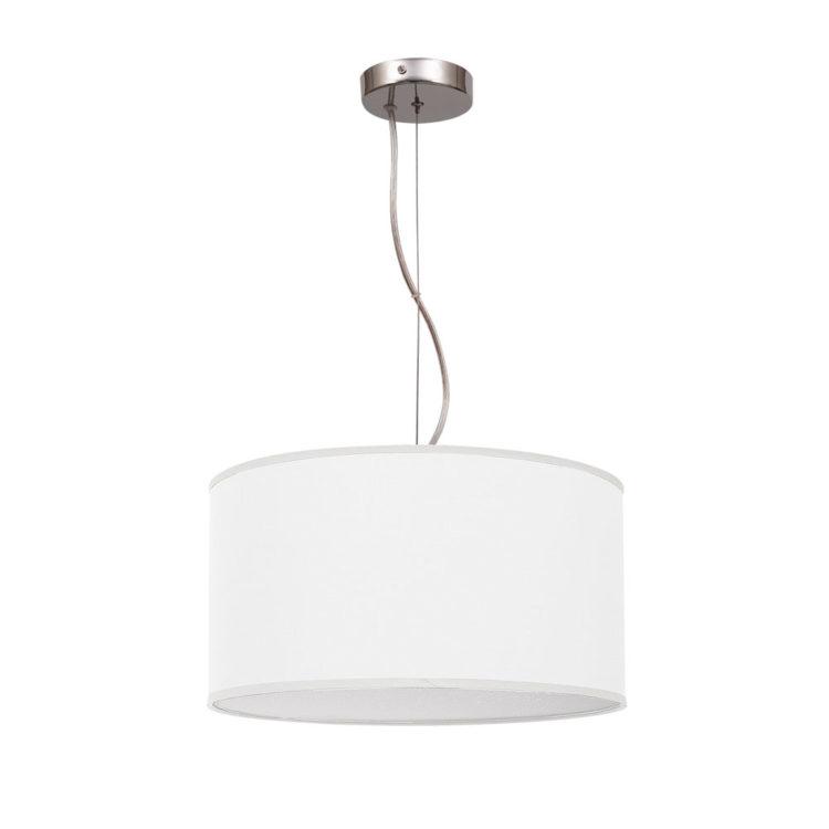 lampara de tela blanca