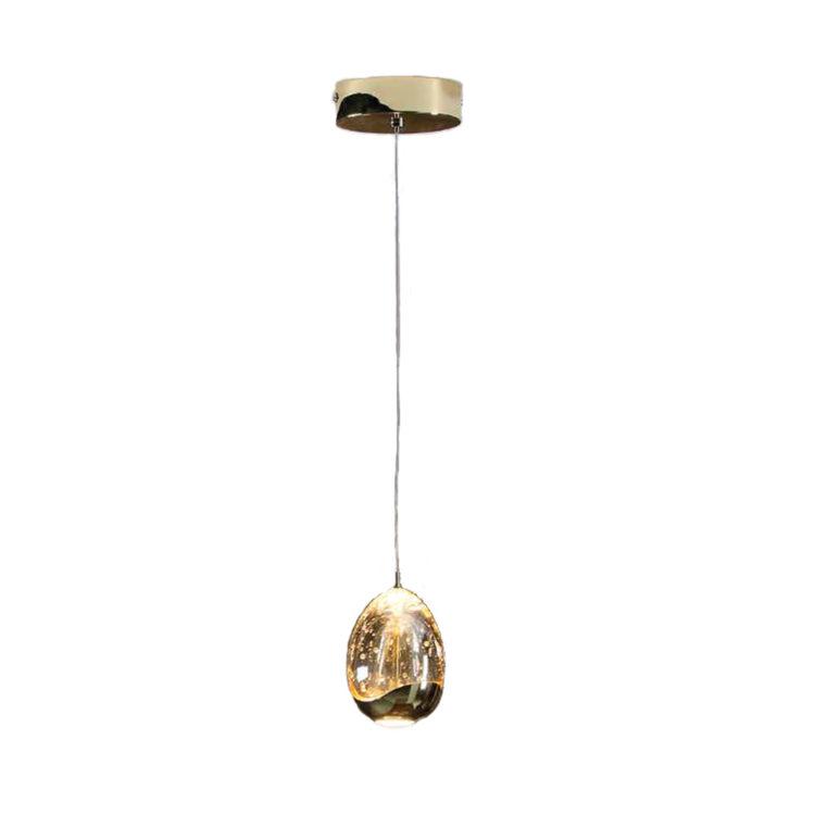 lampara rocio de schuller de una luz led en oro y cristal