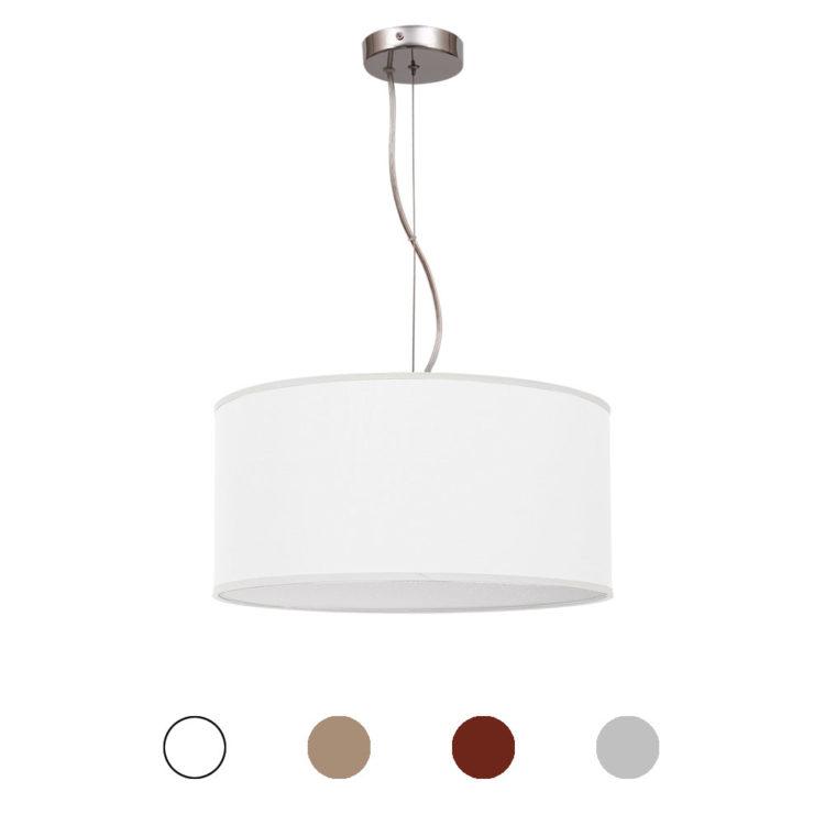 lampara tela 40 centimetros nicole colores