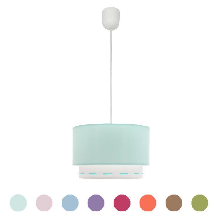 lampara infantil de tela en diferentes colores