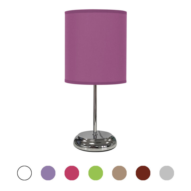 lampara de mesa nicole en varios colores