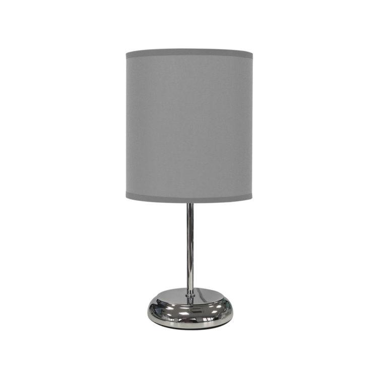 lampara de tela sobremesa color gris