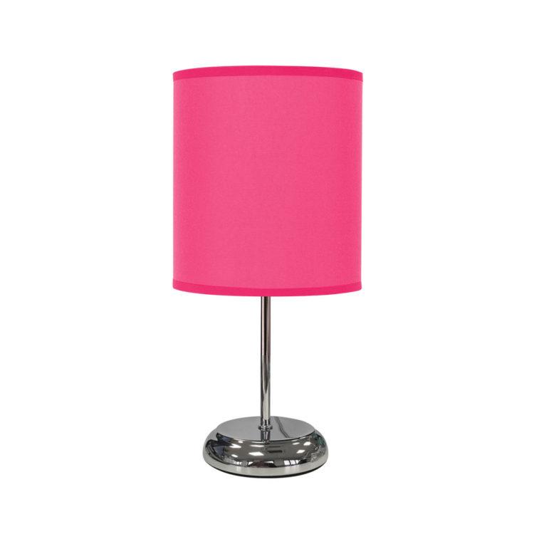 lampara de mesa fucsia o rosa magenta