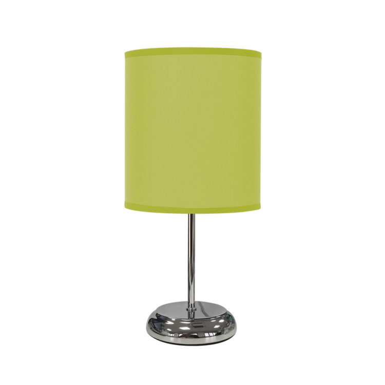lampara verde pistacho de sobremesa en tela
