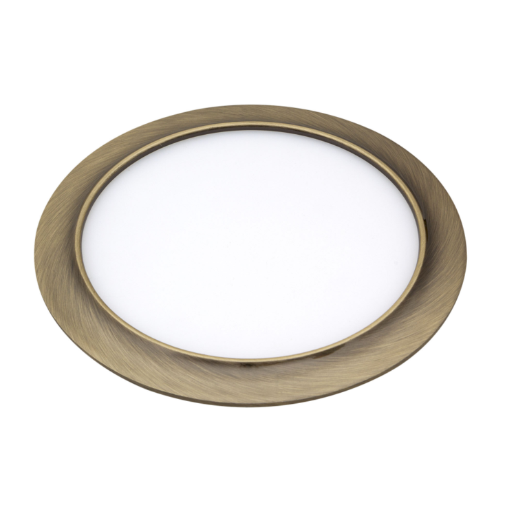 downlight color cuero redondo empotrable