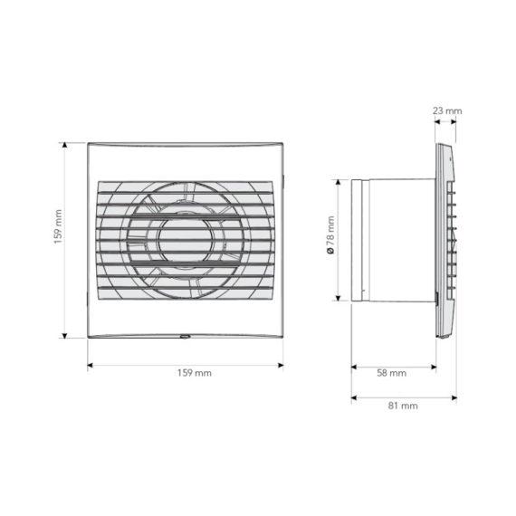 medidas extractor baño domestico
