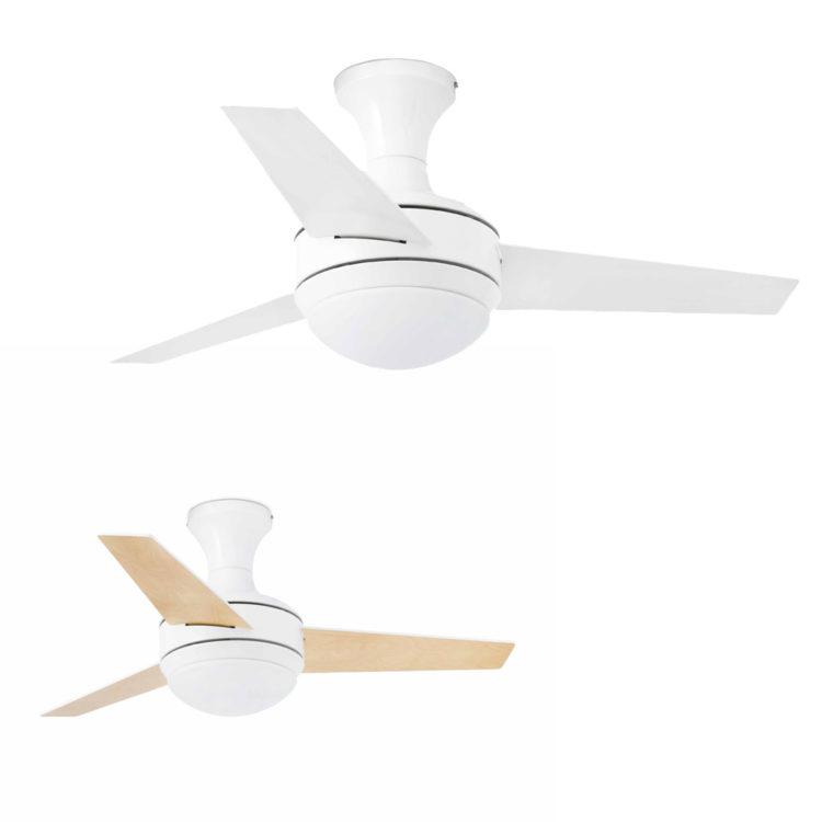 ventilador de techo mini ufo blanco y aspas reversibles