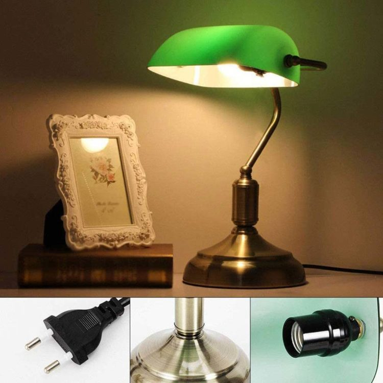 partes de lampara estilo escritorio