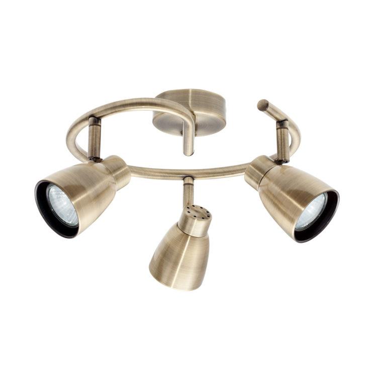 plafon metalico en color cuero o bronce forma de espiral