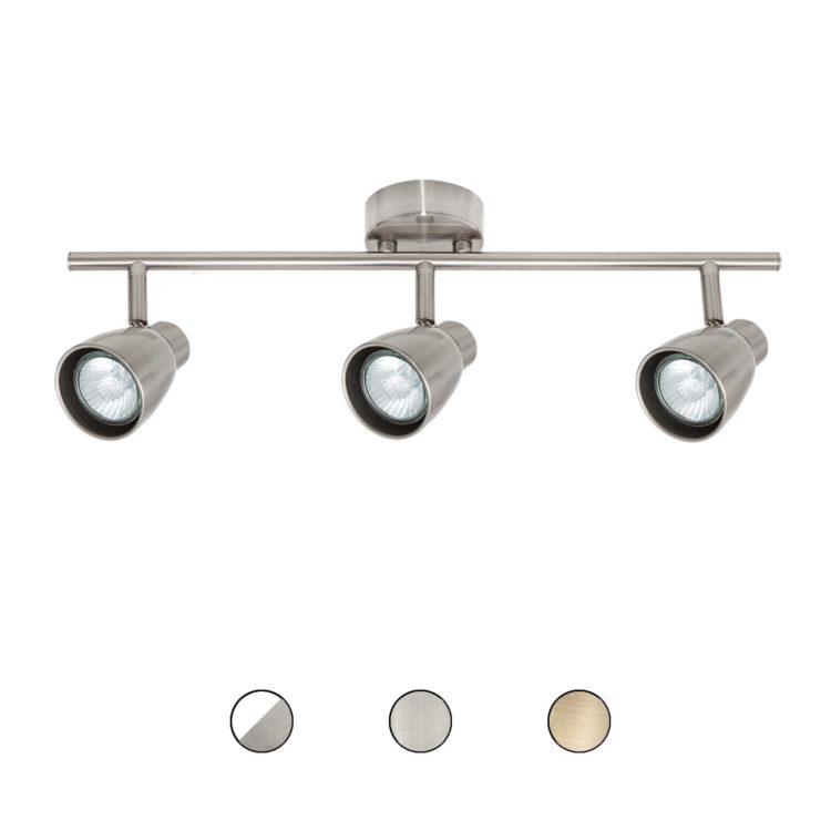 regleta de 3 luces para bombilla
