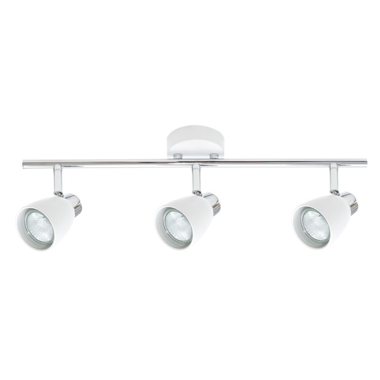 regleta de 3 luces en blanco