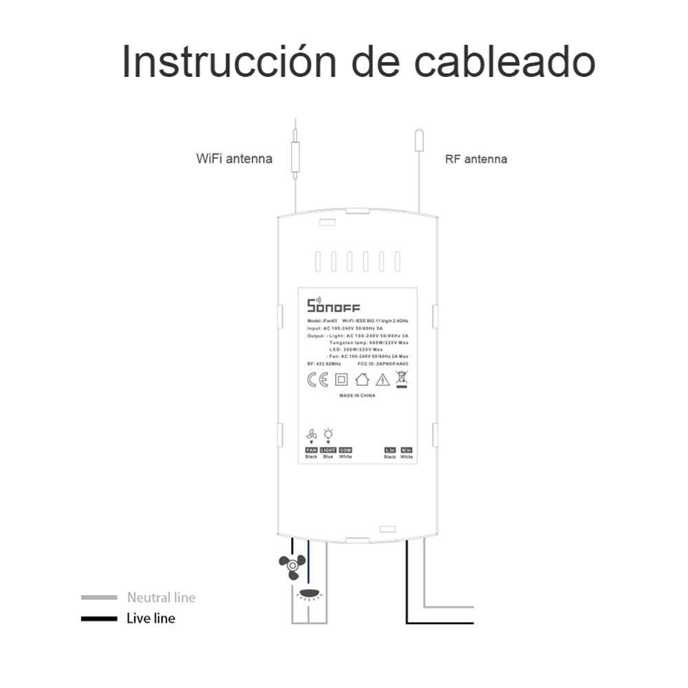 instrucciones controlador sonoff