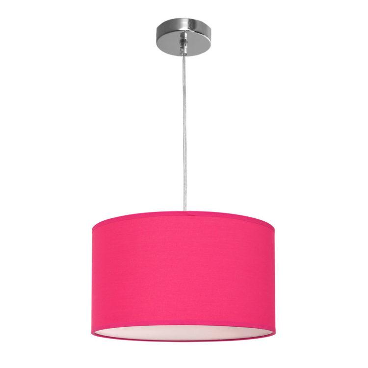 lampara colgante de tela fucsia magenta rosa
