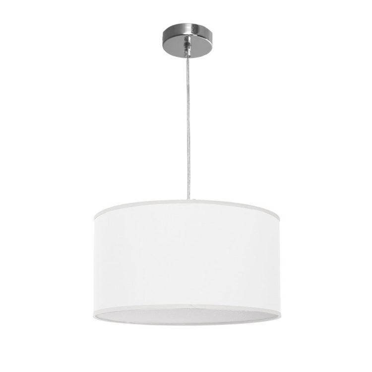 lampara de techo blanca de tela modelo nicole