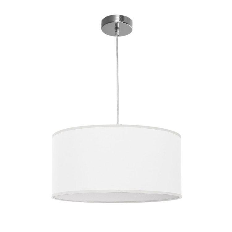 lampara de tela color blanco nicole
