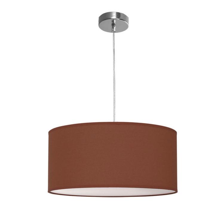 lampara de tela marron chocolate nicole
