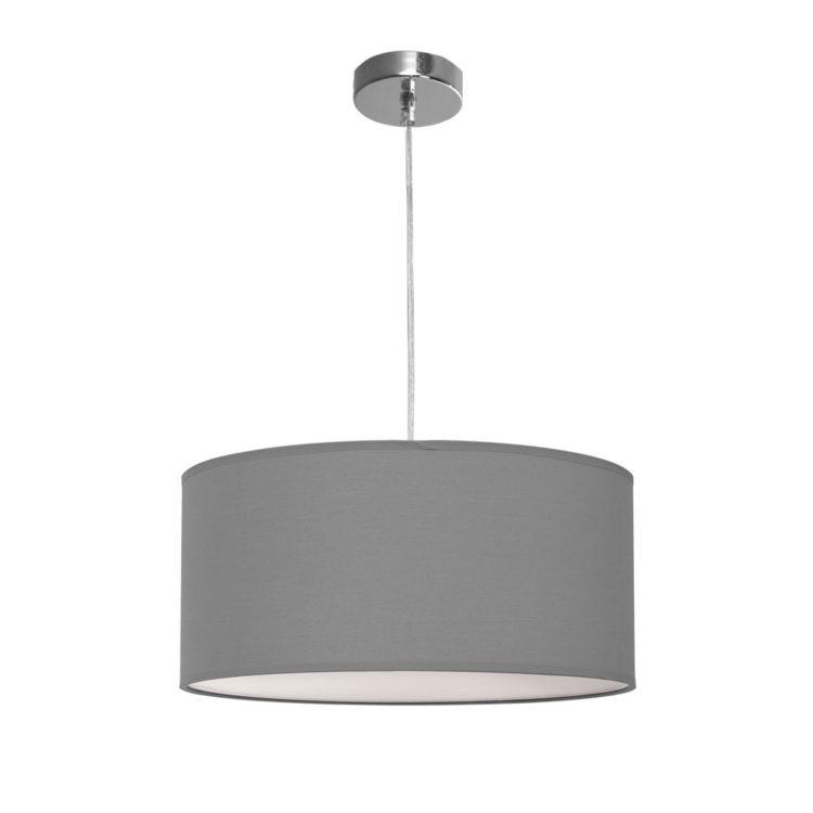 lampara nicole de tela gris