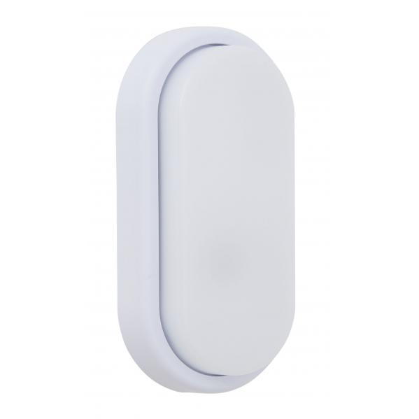 aplique 12w surf exterior oval ip65 blanco 9 9x19 9x4 8 6400k 960lm - Todolampara - Aplique 12w Surf Exterior Oval Ip65 Blanco 9,9x19,9x4,8 6400k 960lm