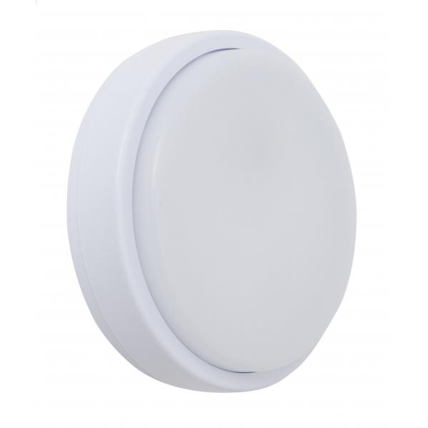 aplique 12w surf exterior redondo ip65 blanco 4 8x16d 6400k 960lm - Todolampara - Aplique 12w Surf Exterior Redondo Ip65 Blanco 5,4X21X21 6400k 960lm