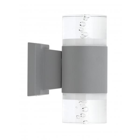 aplique exterior 18w 4000k cuba gris 1440lm ip65 21x15x9 2 luces - Todolampara - Aplique Exterior 18w 4000k Cuba Gris 1440lm Ip65 21x15x9 2 Luces