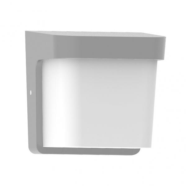 aplique exterior agar 1xe27 gris ip65policarbonato - Todolampara - Aplique Exterior Agar 1xe27 Gris Ip65policarbonato 17x17x14