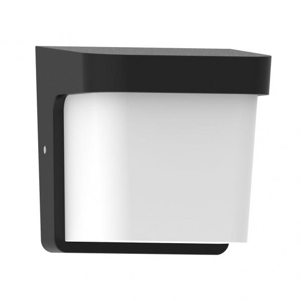 aplique exterior agar 1xe27 negro ip65policarbonato - Todolampara - Aplique Exterior Agar 1xe27 Negro Ip65policarbonato 17x17x14