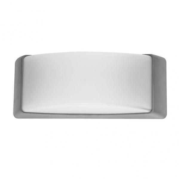 aplique exterior azuki 1xe27 gris ip65policarbonato 12 - Todolampara - Aplique Exterior Azuki 1xe27 Gris Ip65policarbonato 12,9x32x13