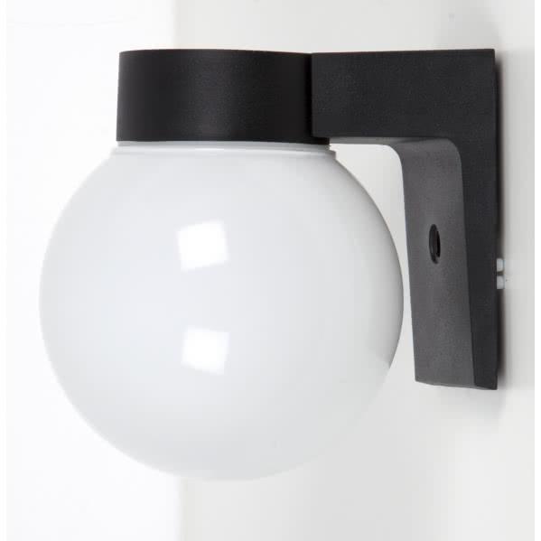 aplique exterior globo negro 1xe27 - Todolampara - Aplique Exterior Globo Negro 1xe27 (18x15x16)