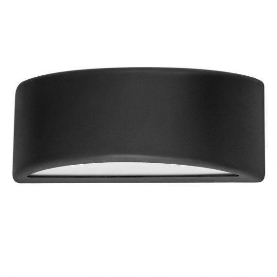 aplique-exterior-kefir-1xe27-negro-ip65policarbonato-13-2x32x13