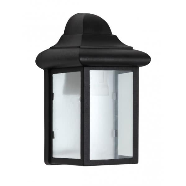 aplique exterior pozuelo negro 22x14 5x11 1 - Todolampara - Aplique Exterior Pozuelo Negro 22x14,5x11
