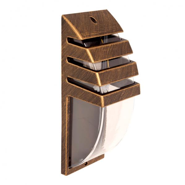aplique exterior romero oro negro 1xe27 - Todolampara - Aplique Exterior Romero Oro/negro 1xe27 34x12x11