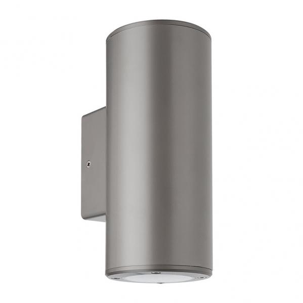 aplique exterior yopol 2xgu10 gris cilindro policarbonato 18 6x7 6x9 9 ip54 - Todolampara - Aplique Exterior Yopol 2xgu10 Gris Cilindro Policarbonato 18,6x7,6x9,9 Ip54